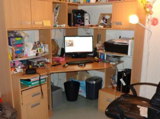 Bureau d 39 angle cenon meubles d coration bureau - Bureau d angle avec etageres ...