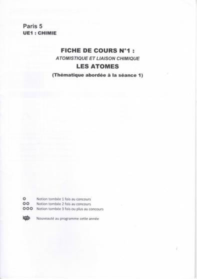 fiches medisup paris descartes 2016/17 - Annonce gratuite marche.fr