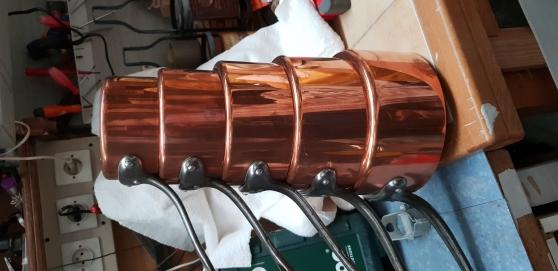 Batterie de casseroles en cuivre