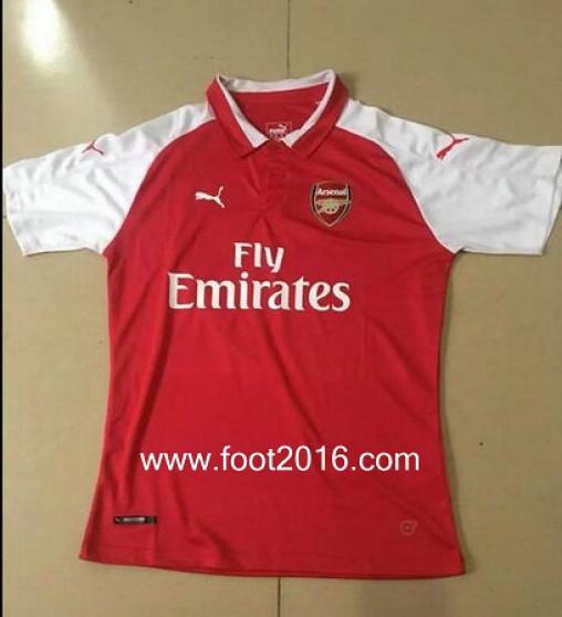 maillot domicile de Arsenal 2017-2018