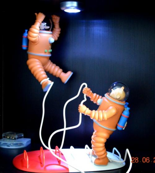 Tintin et Haddock cosmonaute
