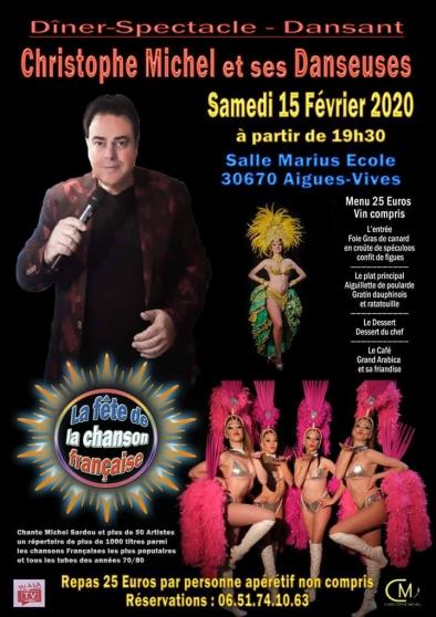 Annonce occasion, vente ou achat 'Diner Christophe Michel chante française'