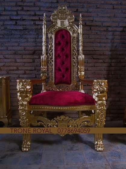 fauteuil baroque tr ne roi lion paris meubles d coration chaises fauteuils paris. Black Bedroom Furniture Sets. Home Design Ideas