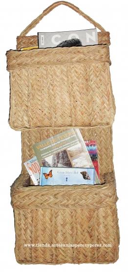 Annonce occasion, vente ou achat 'Porte-revues en sparte avec 2 sections'