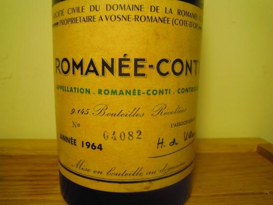 Annonce occasion, vente ou achat 'Superbe bouteille Romanée Conti 1964 DRC'