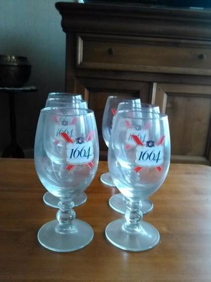 """Lot de 6 verres à bière """"1664"""""""
