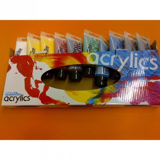 Annonce occasion, vente ou achat 'set 10 tubes couleurs acryliques'