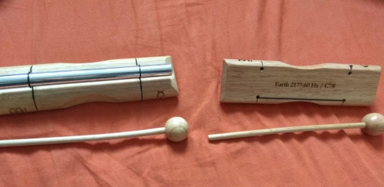 Petites barres carillons de sonotherapie