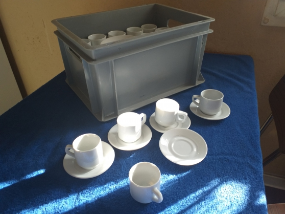 45 tasses & sous tasse à café ceramique - Photo 2