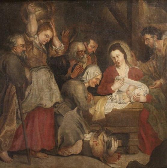 toile nativité 700 18ème siècle