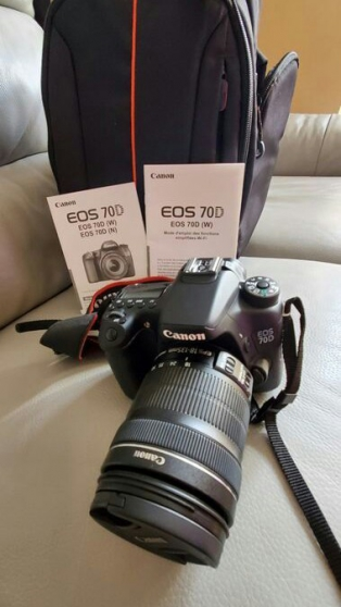 Annonce occasion, vente ou achat 'Canon EOS 70D avec objectif 18-135'