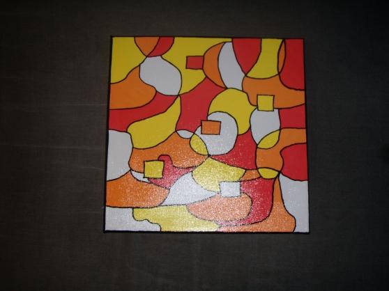 Peinture abstraite sur toile