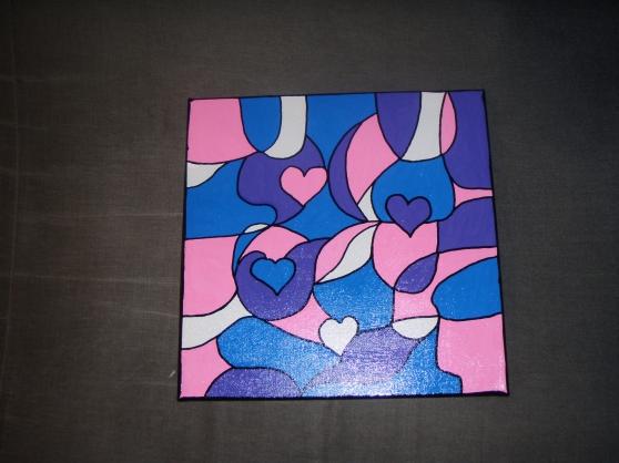 Peinture abstraite sur toile 3