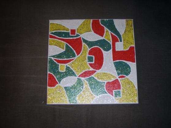 Peinture abstraite sur toile 4