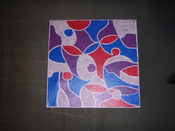 Peinture abstraite sur toile 5