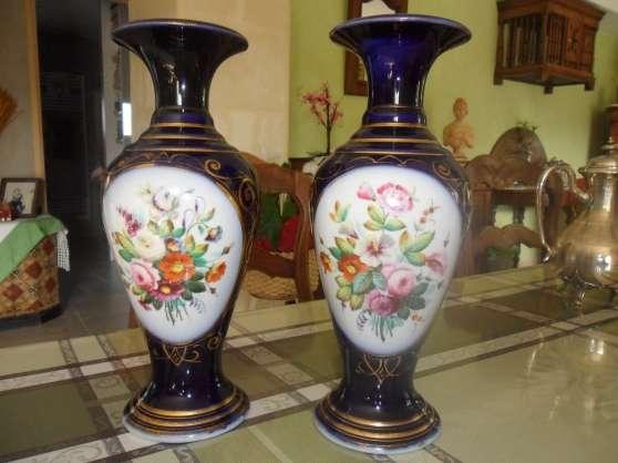 Vase En Porcelaine Peint à La Main, XIX