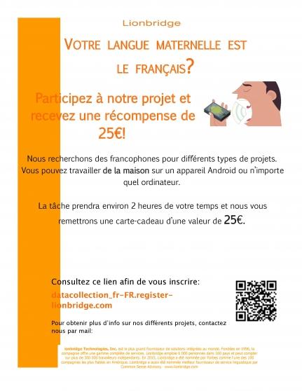 enregistrements vocaux, h/f! - Annonce gratuite marche.fr