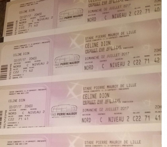 4 places concert céline dion lille 02/07 - Annonce gratuite marche.fr
