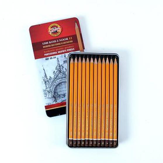 boîte métal crayons graphites - Photo 3
