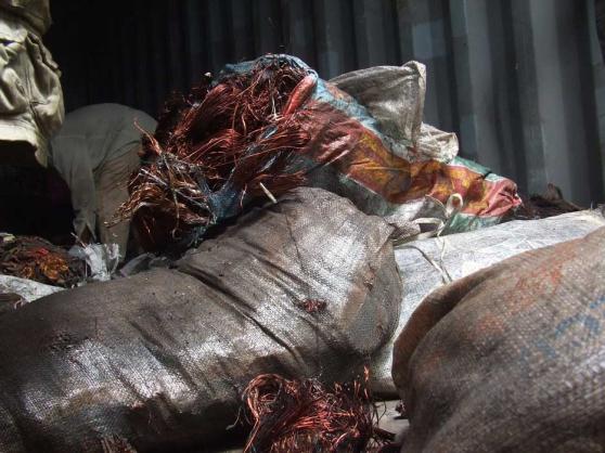Liquidation des tonnes de cuivre