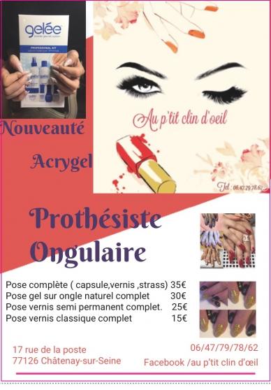 Annonce occasion, vente ou achat 'Prothésiste ongulaire'