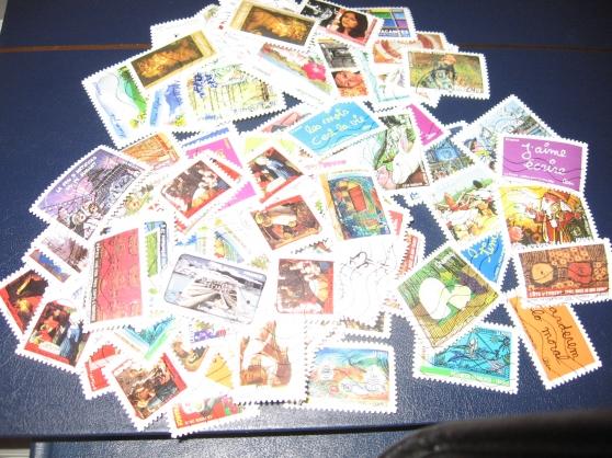 100 timbre-poste FRANCE oblitérés