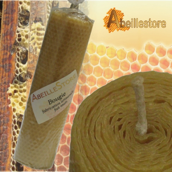 Bougie naturelle en cire d'abeilles