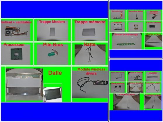 Petite Annonce : Pièces sony vaio vgn-a417m de 17 pouces - Vend divers pièces d\'occasion pour Sony Vaio VGN-A417M de 17 pouces