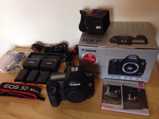 Annonce occasion, vente ou achat 'Canon 5D Mark III avec 4 batteries'