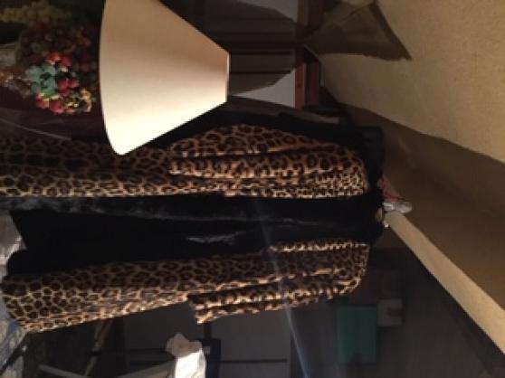 Manteau Leopard et vison
