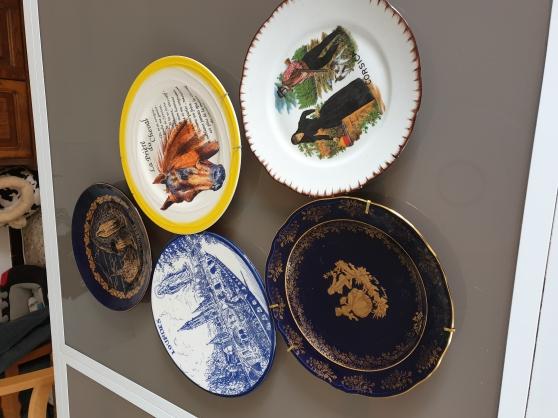 Lot assiettes décoratives
