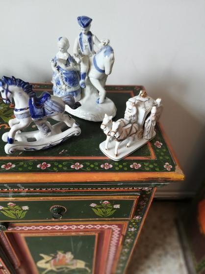 Lot 3 chevaux en céramique