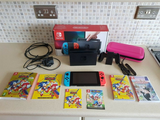 Nintendo Switch Avec Jeux Mario Kart