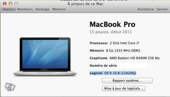 Mac Book Pro 15 Pouces Debut 2011