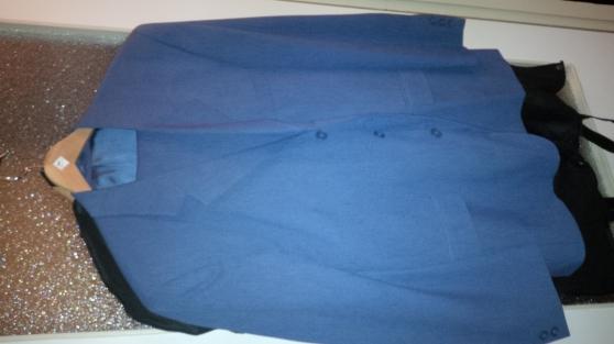 Costume complet bleu (pantalon + veste)
