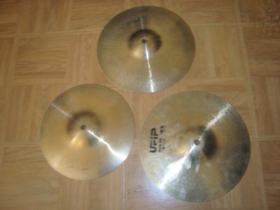 vend 3 cymbales ufip (voir la liste)