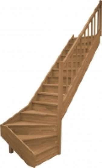 escalier 1 4 tournant bas gauche chene mat riaux de construction escaliers echelles rognac. Black Bedroom Furniture Sets. Home Design Ideas