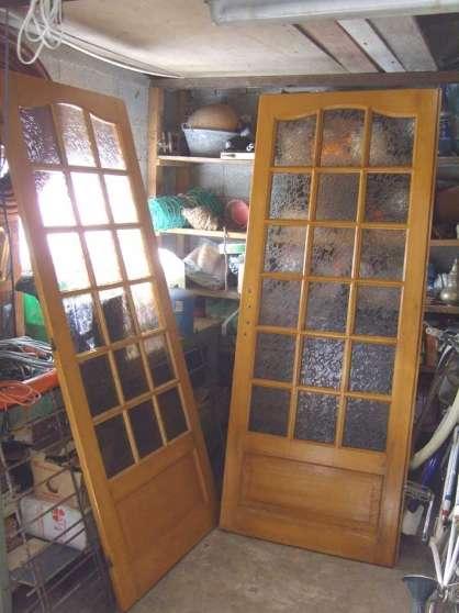 Porte d 39 int rieur en bois vitr e reims mat riaux de - Porte d interieur vitree ...