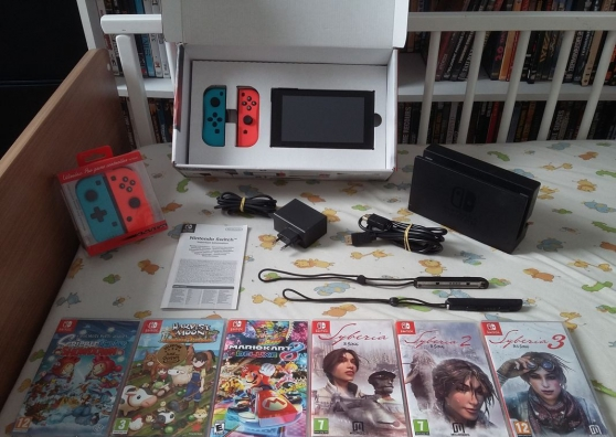 Nintendo Switch + 6 jeux