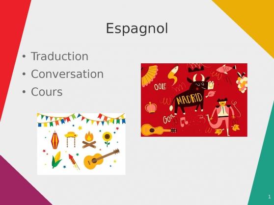 Annonce occasion, vente ou achat 'Traductions Cours Espagnol Français'