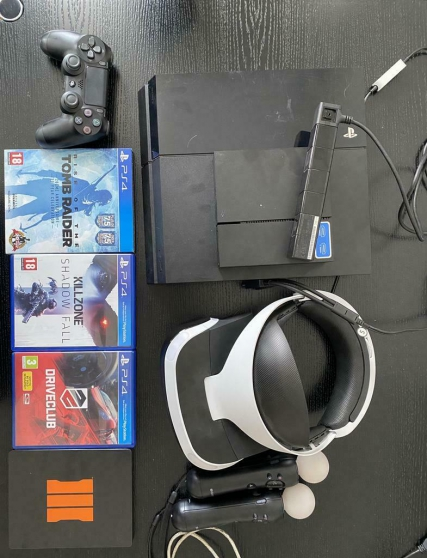 PlayStation 4 500go fw 4.0.5 + kit PS VR
