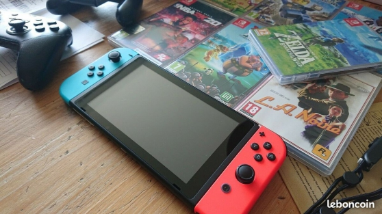 Nitendo switch + jeux + manette - Photo 3