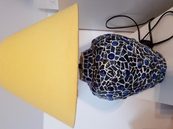 Lampe bleue en mosaïque
