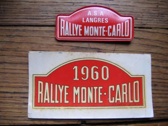 Annonce occasion, vente ou achat 'badges affiches rallye'