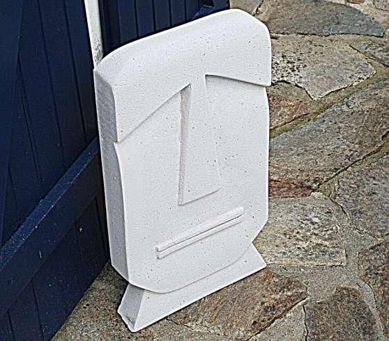 Sculpture/beton cellulaire-Jamal-/ 58cm