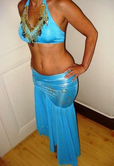 Costume de danse orientale bleu