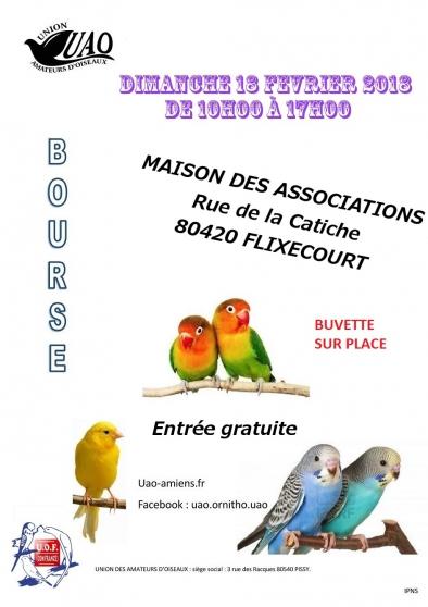 BOURSE AUX OISEAUX à FLIXECOURT