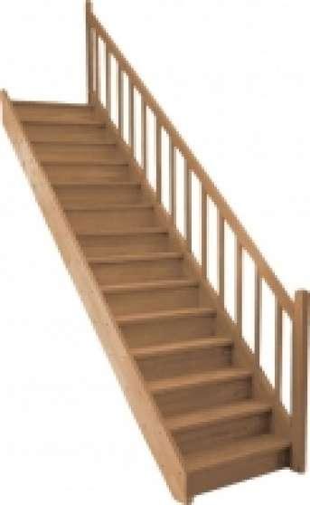 escalier droit chene massif mat riaux de construction escaliers echelles rognac reference. Black Bedroom Furniture Sets. Home Design Ideas