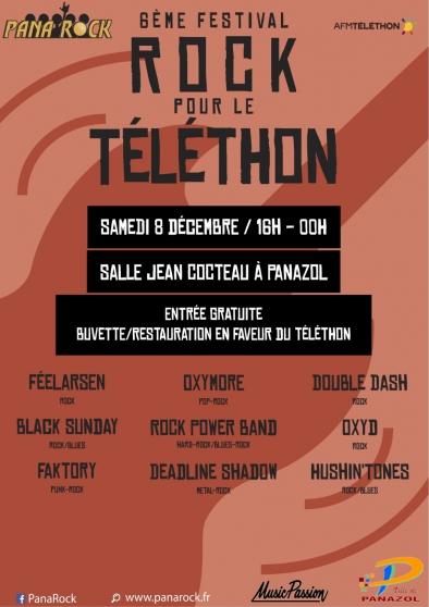 6ème festival rock pour le téléthon - Annonce gratuite marche.fr
