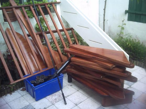 Escalier en colimaçon bois et métal